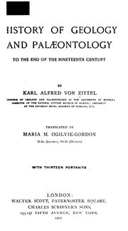 Cover of: History of geology and palæontology to the end of the nineteenth century