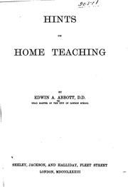 Cover of: Hints on Home Teaching