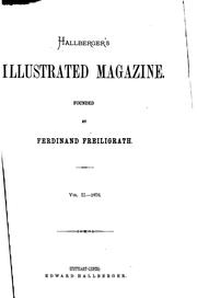 Cover of: Hallberger's Illustrated Magazine