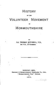 Cover of: History of the Volunteer Movement in Monmouthshire