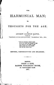 Cover of: The Harmonial Man Or Thoughts For The Age