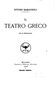Cover of: Il teatro greco