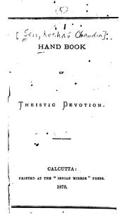 Cover of: Handbook of Theistic Devotion