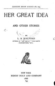 Cover of: Her Great Idea, and Other Stories