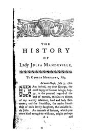 Cover of: The History of Lady Julia Mandeville: In Two Volumes