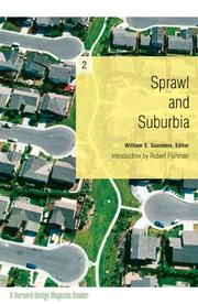 Cover of: Sprawl and Suburbia | William Saunders