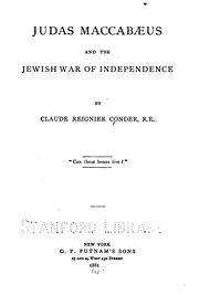 Cover of: Judas Maccabæus: And the Jewish War of Independence
