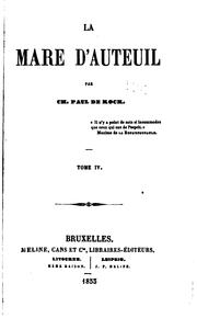 Cover of: La mare d'auteuil