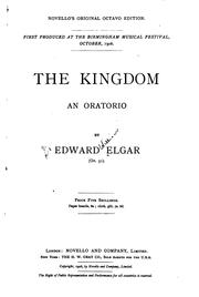 Cover of: The Kingdom: An Oratorio. Op.51