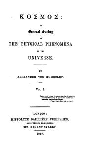 Cover of: Kosmos: A General Survey of Physical Phenomena of the Universe