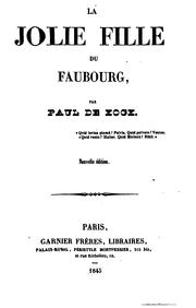 Cover of: La jolie fille du Faubourg