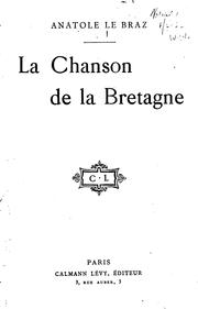 Cover of: La chanson de la Bretagne