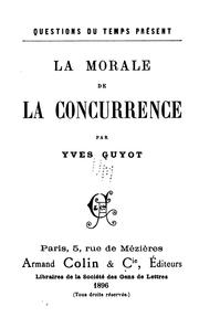 Cover of: La morale de la concurrence
