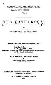 Cover of: The Kathákoça: Or, Treasury of Stories