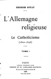 Cover of: L' Allemagne religieuse