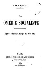 Cover of: La comédie socialiste