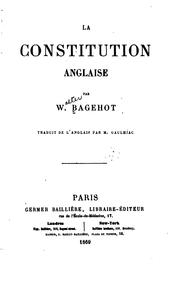 Cover of: La constitution anglaise