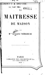 Cover of: La maitresse de maison