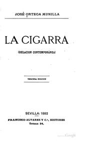 Cover of: La cigarra: Relación contemporánea