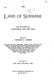 Cover of: The Land of Sunshine: November, 1901, Vol. 15 No. 5
