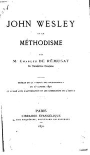 Cover of: John Wesley et le méthodisme