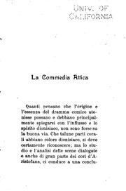 Cover of: La commedia attica
