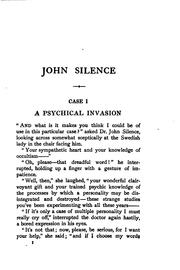 John Silence, physician extraordinary by Algernon Blackwood