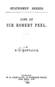 Cover of: Life of Sir Robert Peel