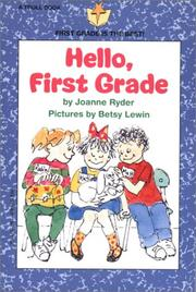 Cover of: Hello, first grade