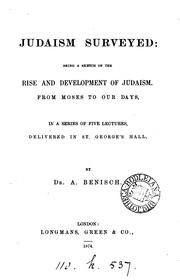 Cover of: Judaism surveyed, 5 lectures