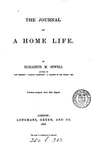 Cover of: The journal of a home life | Elizabeth Missing Sewell
