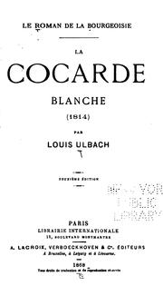 Cover of: La cocarde clanche (1814)
