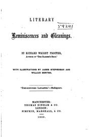 Cover of: Literary Reminiscences and Gleanings