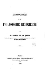 Cover of: Introduction à la philosophie religieuse
