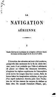 Cover of: La Navigation Aerienne