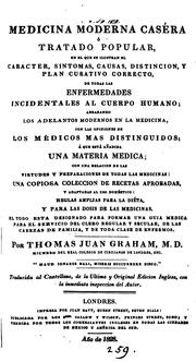 Cover of: Medicina moderna caséra, trad | Thomas John Graham