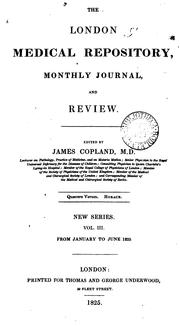 Cover of: The London Medical Repository Monthly Journal and Review