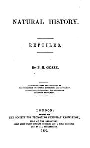 Cover of: Natural history. Reptiles