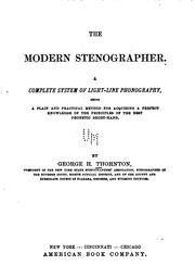 Cover of: The Modern Stenographer | George Howard Thornton