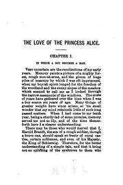 Cover of: The Love of the Princess Alice