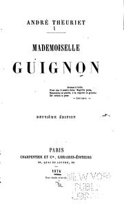 Cover of: Mademoiselle Guignon