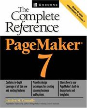 Cover of: PageMaker 7 | Carolyn M. Connally