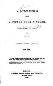 Cover of: M. Botta's Letters on the Discoveries at Nineveh