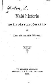 Cover of: Male historie ze zivota staroceskeho
