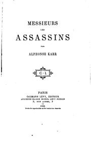 Cover of: Messieurs les assassins