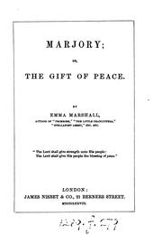 Cover of: Marjory, Or, The Gift of Peace