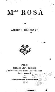 Cover of: Mlle Rosa | Arsène Houssaye