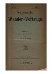 Cover of: Medicinische Wander-Vortrage
