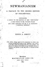 Cover of: Newmanianism: A Preface to the Second Edition of Philomythus ; Containing a ..