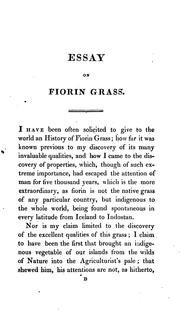 Cover of: New Essay on Fiorin Grass, Including the History of Its Discovery, and an Account of Its ... | William Richardson